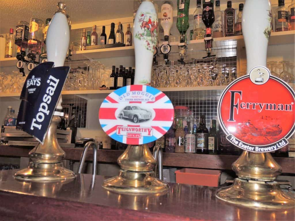 Devon Real Ales at The Tors Inn Belstone